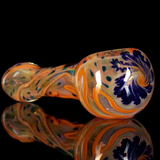 Inside Out Gold Fumed Pink and Orange Spoon Pipe