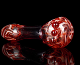 red pink cute glass smoking pipe