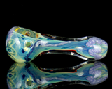 inside out silver fumed glass pipe