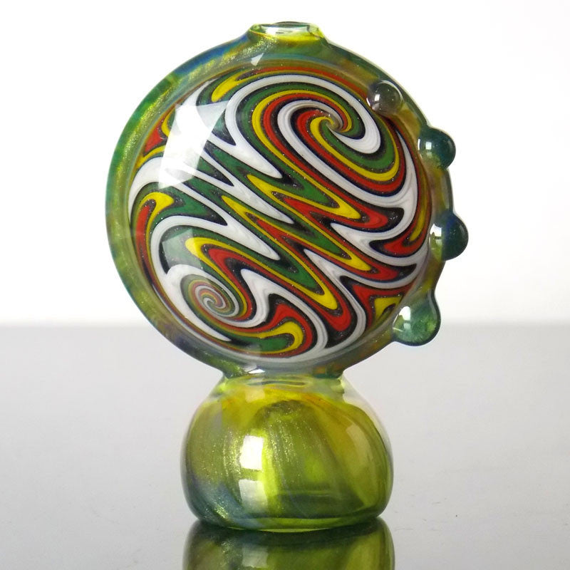rasta wig wag disc glass chillum