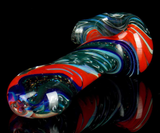 inside out spoon pipe with dichroic glass