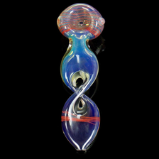 Fumed Color Changing Split Twisted Helix Smoking Pipe