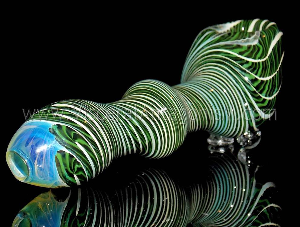 green black smoking pipe