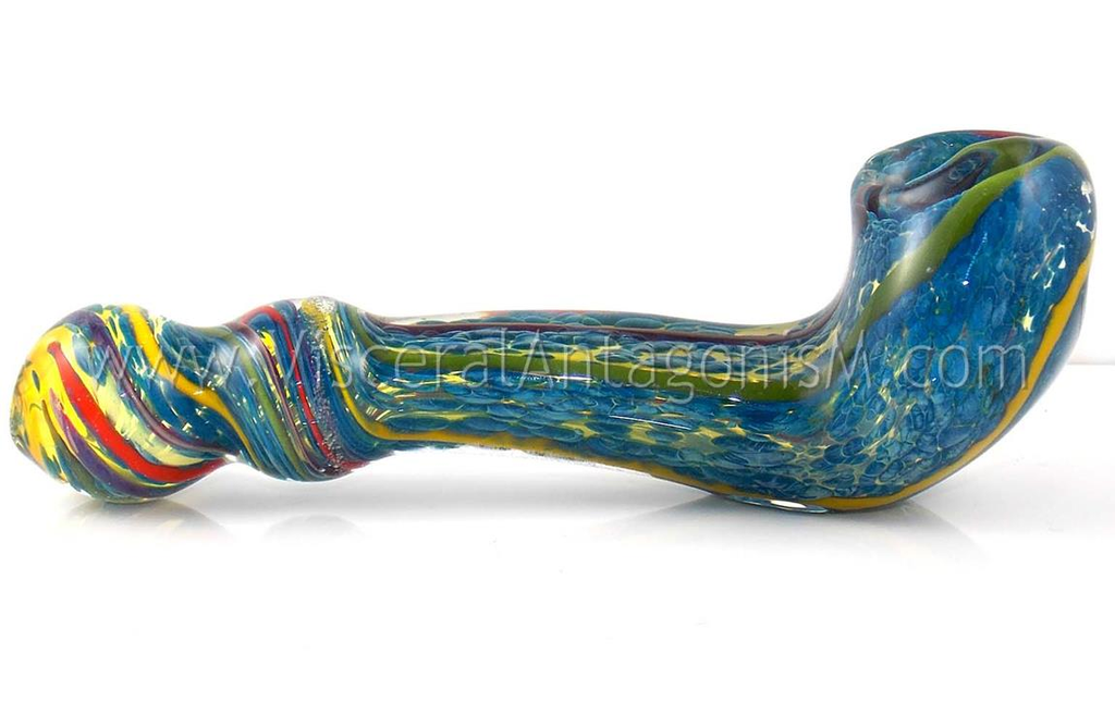 Aqua water blue glass gandalf pipe by VisceralAntagonisM