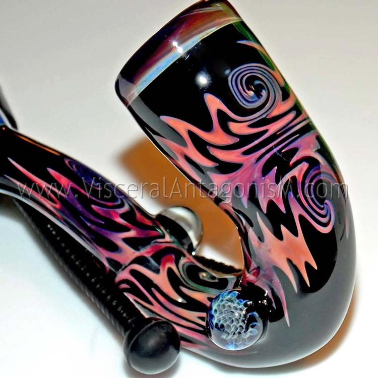pink black heady wig wag pipe