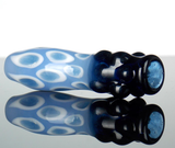 spotted blue stardust glass chillum