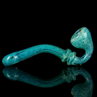 bright aqua blue sherlock pipe