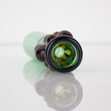 green glass wax worm one hitter pipe