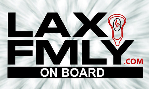 LAX FMLY ON BOARD car sticker