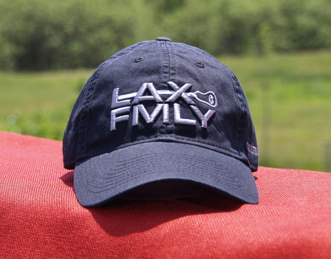 Lax Fmly adjustable hat - black/grey embroidery