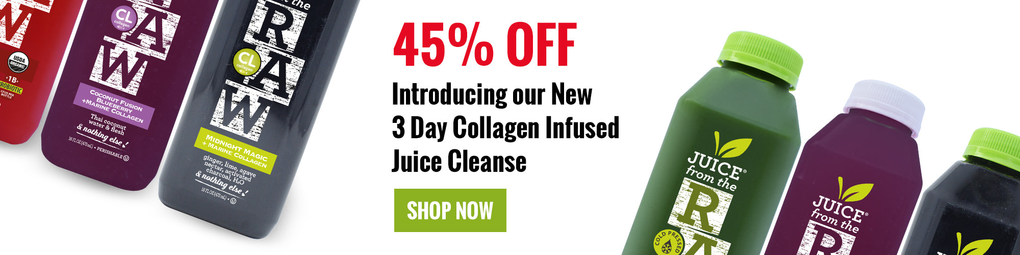 3 Day Collagen Infused Juice Cleanse