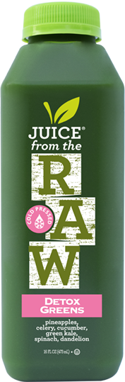 Juice from the Raw detox green juice