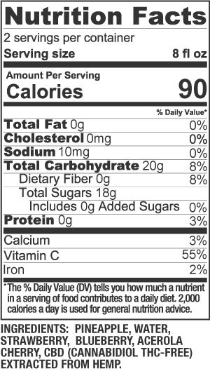 Cherry Berry Nutrition Facts