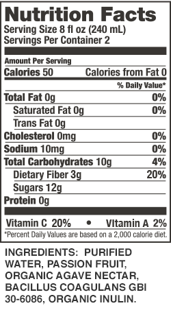 Passion Fruit Cleanser Nutrition Facts