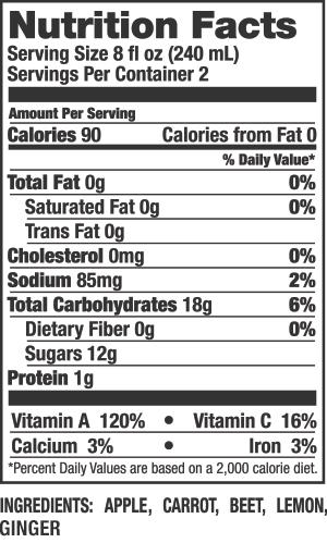UpBeet! Nutrition Facts