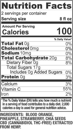 Tropical Chia Nutrition Facts