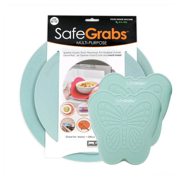 Safe Grabs Pack: Multipurpose Kitchen Mats & Butterfly Pinch Mitts
