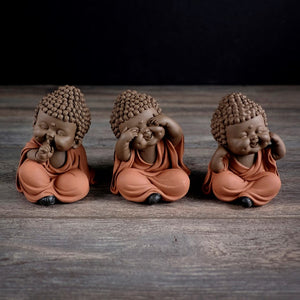 Three Wise Baby Buddha - Hear Speak See No Evil