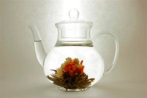 Pear Shaped Glass Teapot