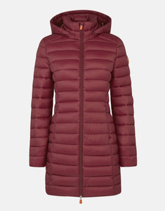 WOMEN'S GIGA STAND-UP COLLAR COAT WITH DETACHABLE HOOD