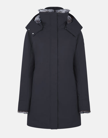 WOMEN'S SMEG WINTER HOODED PARKA WITH FAUX FUR LINING