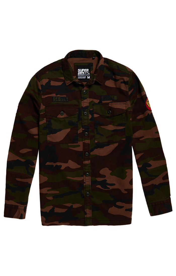CORE MILITARY PATCHED L/S SHIRT