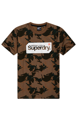 CORE LOGO TAG CAMO ALL OVER PRINT T-SHIRT