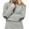 Quilted Elbow Patch Pullover