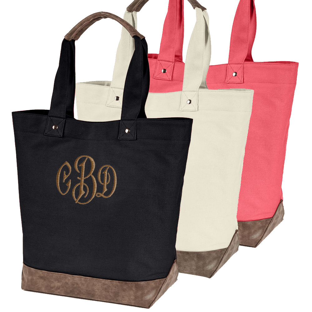Chic Canvas Boater Tote Bag