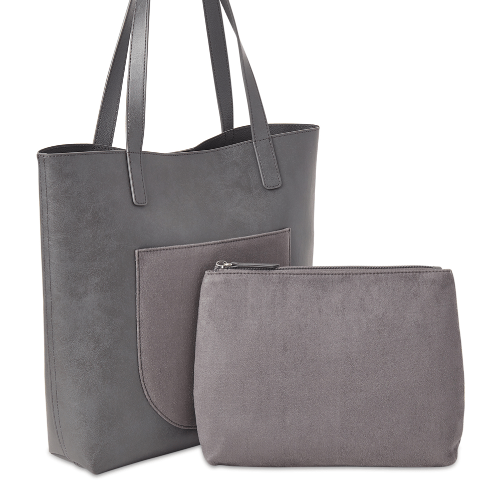 Oversized Tote Bag With Pouch