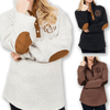 Quilted Diamond Pullover Sweatshirt