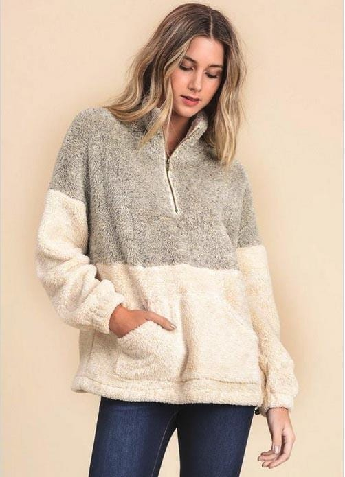 Monogram Two Tone Sherpa