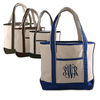 Large Canvas Boater Totes