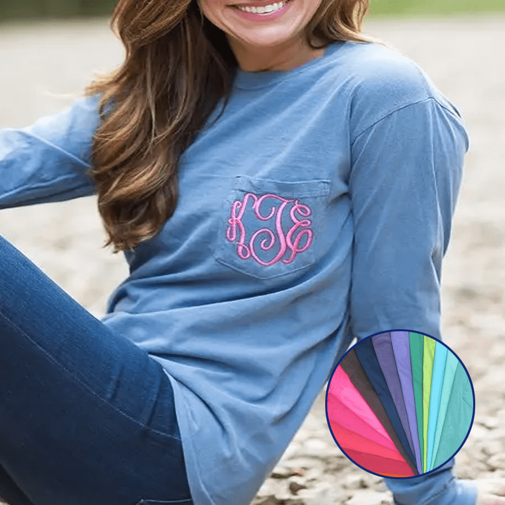 Comfort Colors Long Sleeve Pocket Tee's
