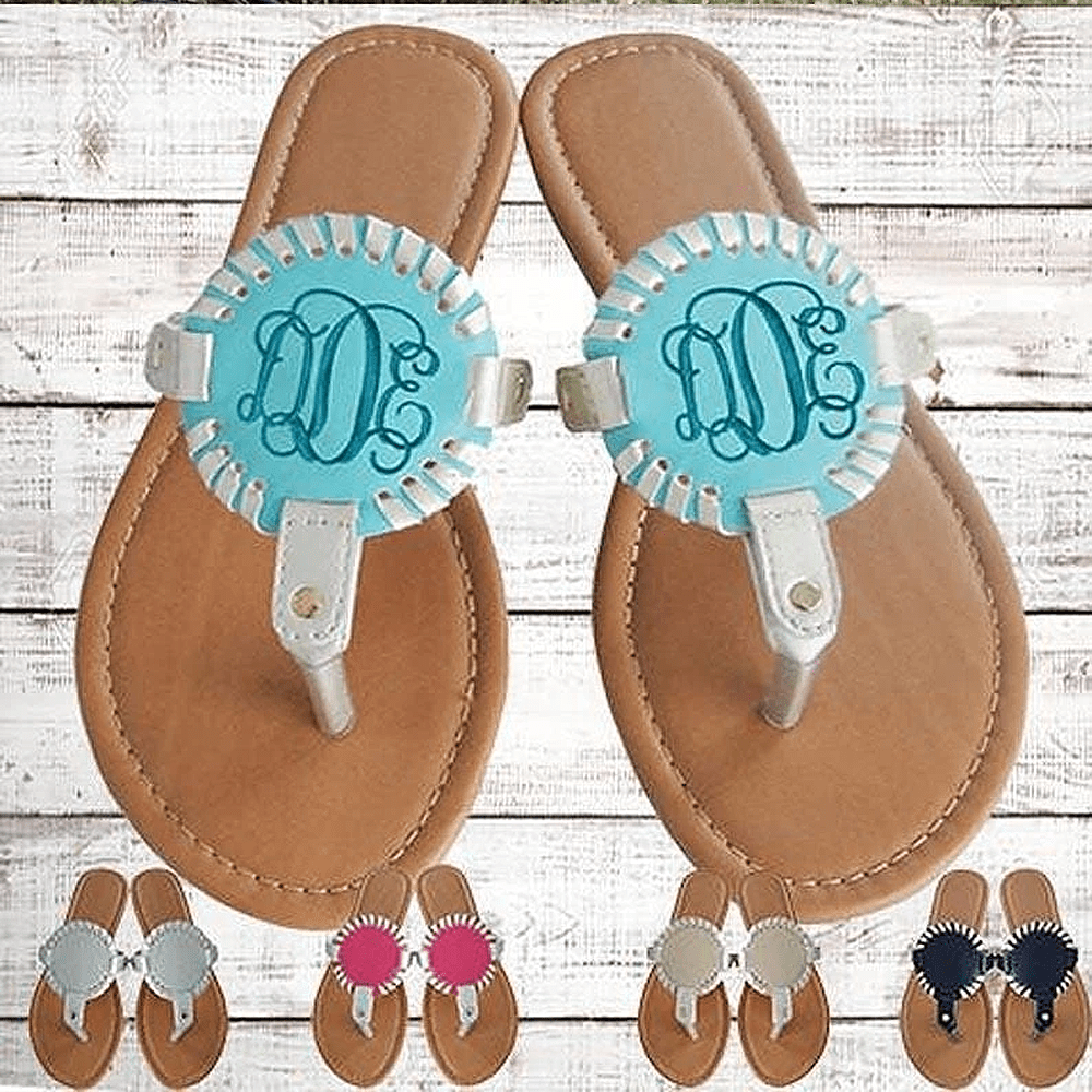 Medallion Disc Sandals