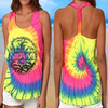 Tie Dye Knotted Racer Back Tee