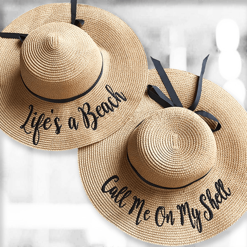 Personalized Floppy Hat With Ribbon
