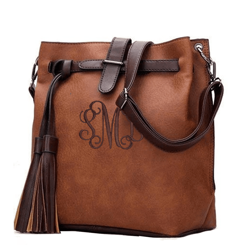 Bucket Crossbody Purse W/Tassel