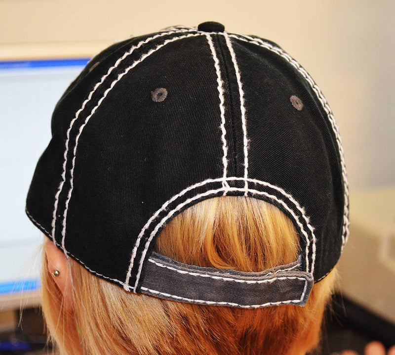 Distress Frayed Baseball Hat