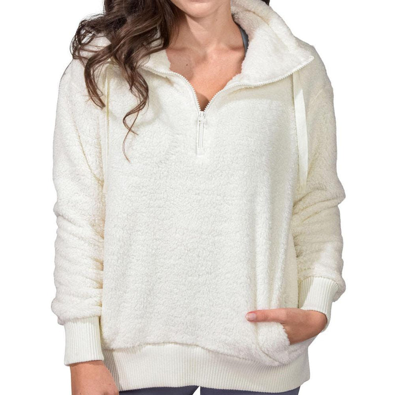 Quarter Zip Sherpa With Pockets