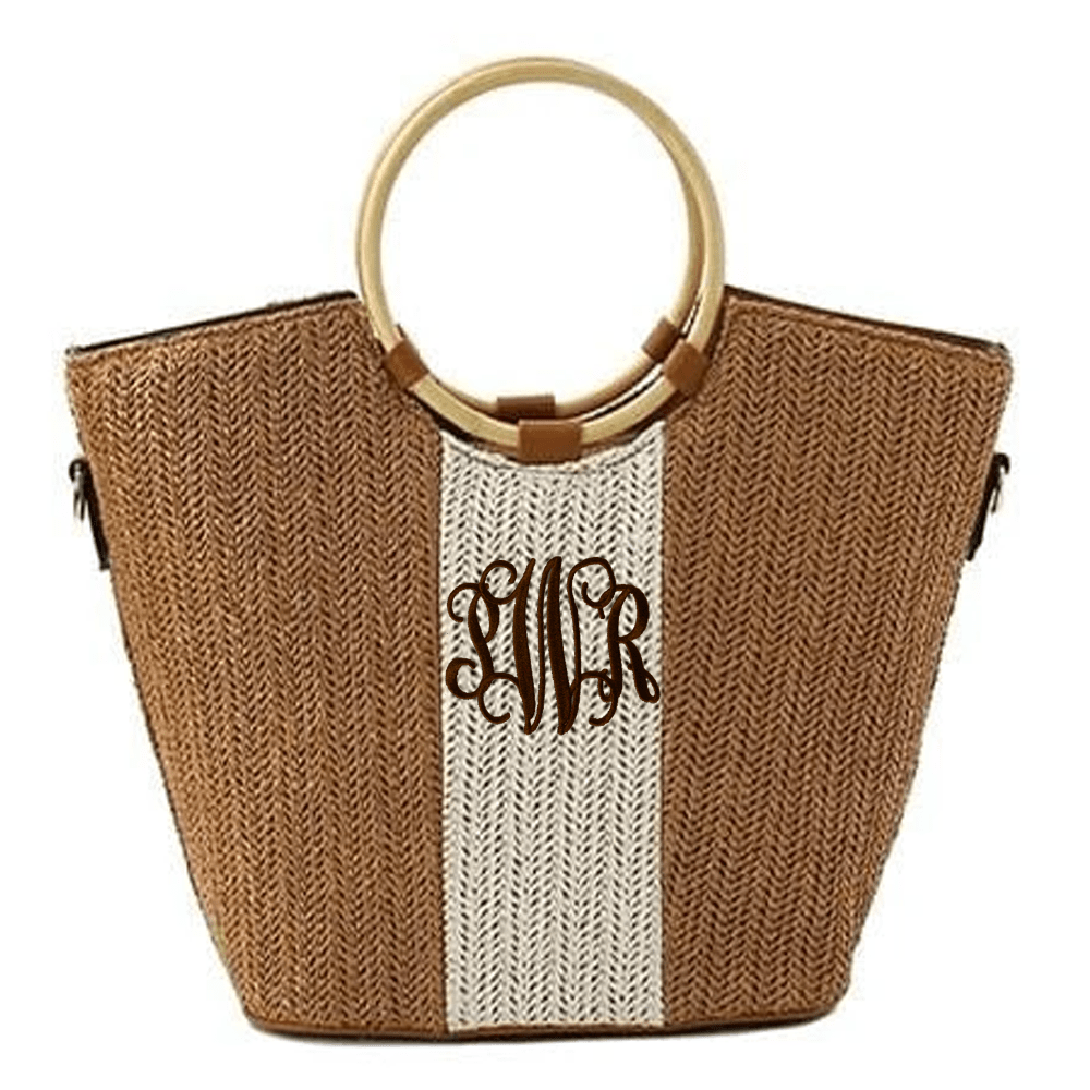 Straw Canvas Handbag