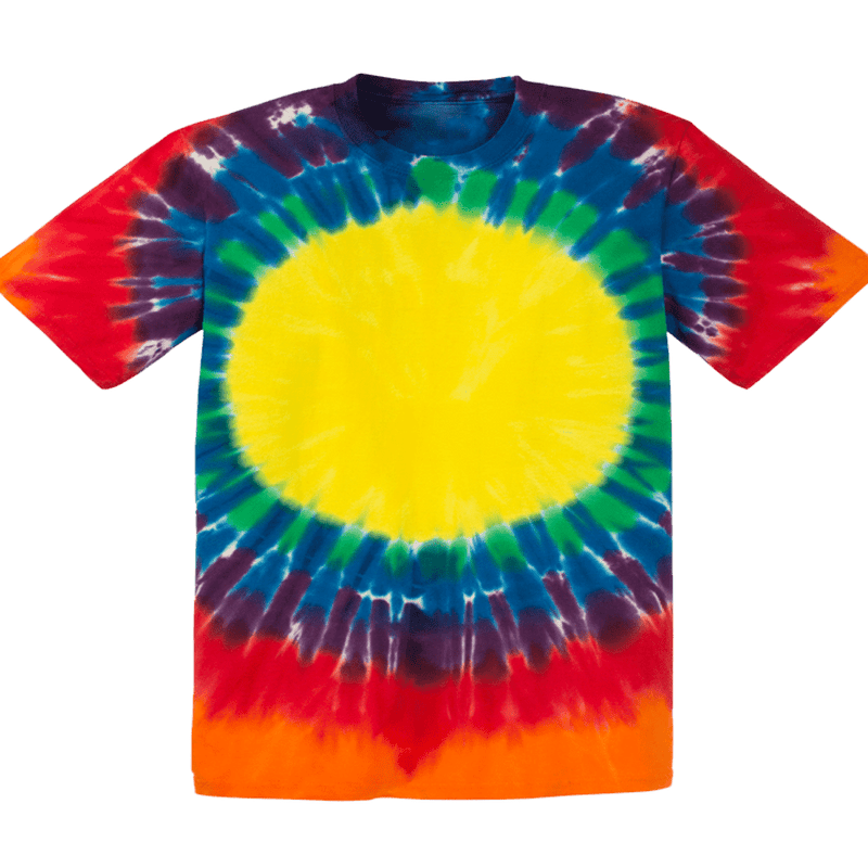 Rainbow Circle Tie Dye Tee Shirt