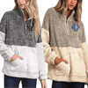 Two Tone Sherpa Pullover