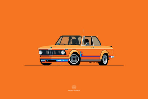 1974 BMW 2002 Turbo Print in Inka