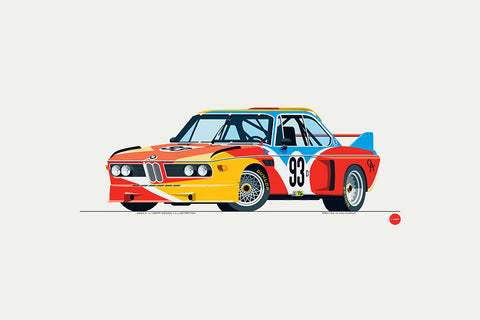 "1975 BMW 3.0 CSL ""Batmobile"" Print in Calder Art Car Livery"