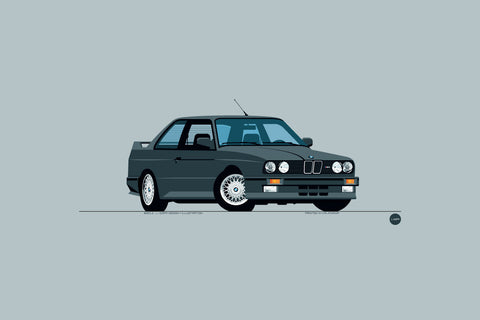 1989 BMW M3 Print in Diamond Black Metallic