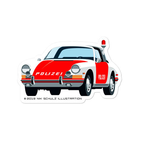 "911 Polizei Sticker, 5.5"" wide"