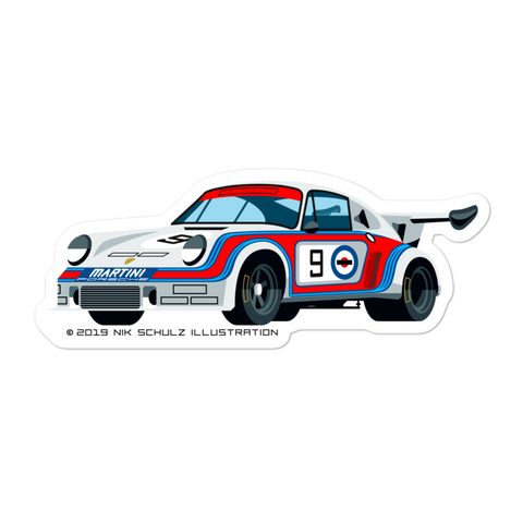 "911 Carrera RSR Sticker, 5.5"" wide"