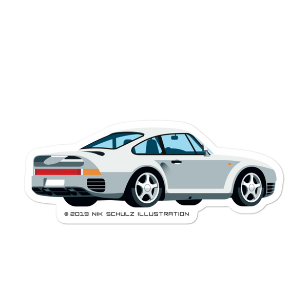"959 Sticker, silver, 5.5"" wide"