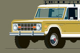 1973 Ford Bronco Print in Tucson Gold